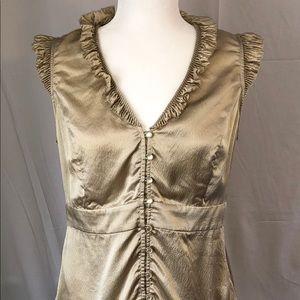 Whit House Black Market Silk Sleeveless Blouse